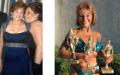 Adeline ist stolz auf ihre zahlreichen Auszeichnungen. Bild links: Adeline (l., mit einer Bekannten), als sie noch übergewichtig war.