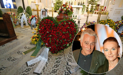 Ein Herz aus Rosen zum Abschied von seiner Nadine: Mit ihr war Klaus Wildbolz (†79) seit 2009 liiert.