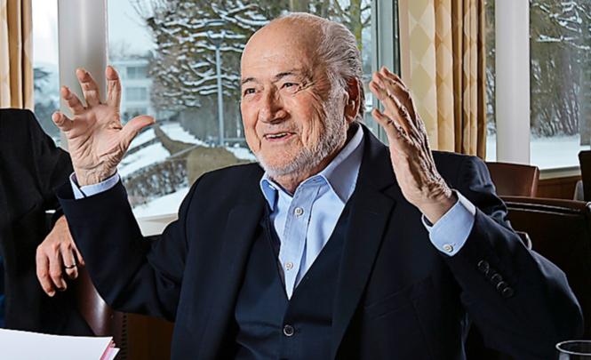 Sepp Blatter (80)  beim Interview mit der GlücksPost: Er wirkt entspannt und guten Mutes. Und sein Kampf geht weiter.