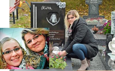 Nadja Schildtknecht pflegt liebevoll das  Grab der Tochter.