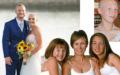 Stolz hält Ehemann Cy seine Braut im Arm. Ihre Glatze stört ihn nicht. Oben rechts: Schon als Teenager verlor Kylie ihr einst langes, volles Haar. Unten: Kylie (r.) in voller Haarpracht mit ihrer Mutter Kerry und ihrer Schwester (l.). Das Foto stammt von 2003.